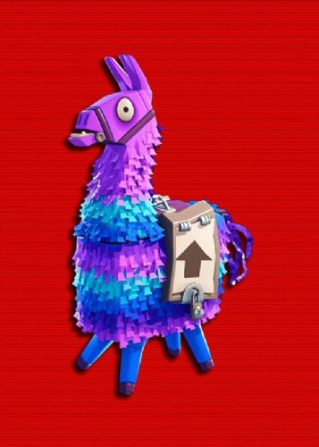 GAMES - FORTNITE - LlAMA RED TEXTURE EFFECT canvas print - self adhesive poster - photo print